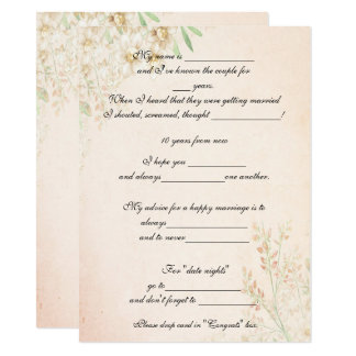 Watercolor Floral,  Funny Marriage Advice, Custom Card