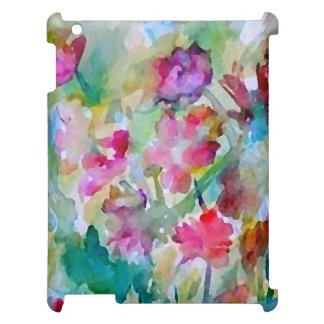 Watercolor Floral Garden Abstract Pretty iPad Case