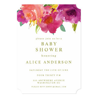 Watercolor Floral Garden Baby Shower Invite