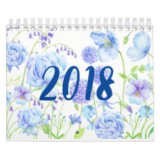 Watercolor Floral Gardens Calendar 2018