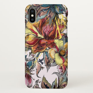 Watercolor Floral iPhone X Glossy Case