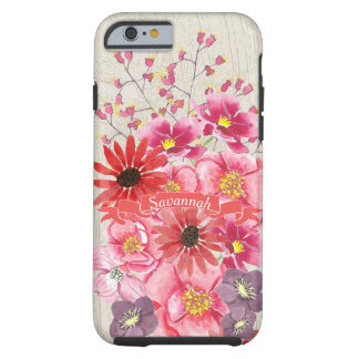 Watercolor Floral Pattern iPhone 6 Tough iPhone 6 Case