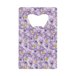Watercolor floral pattern with violet pansies
