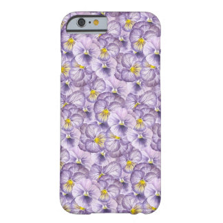 Watercolor floral pattern with violet pansies barely there iPhone 6 case