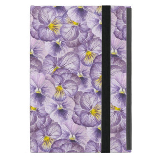 Watercolor floral pattern with violet pansies iPad mini case