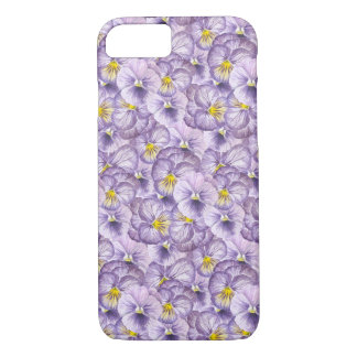 Watercolor floral pattern with violet pansies iPhone 8/7 case