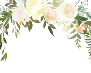 Blank Floral Invitations Announcements