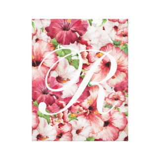 Watercolor Floral Stretched Canvas Art