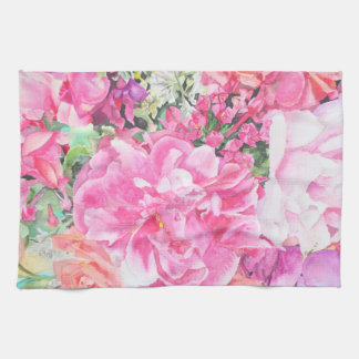 Watercolor Floral Towel