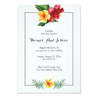 Watercolor Floral Wedding party invitation