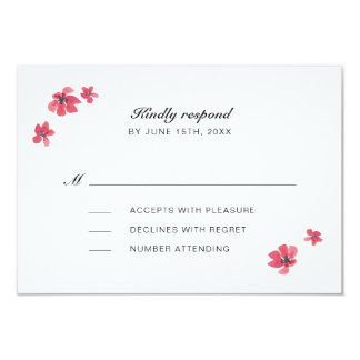 Watercolor Floral Wedding RSVP Insert Card