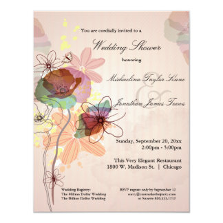 Watercolor Floral Wedding Shower Invite