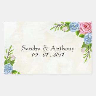 Watercolor Floral wedding Stickers