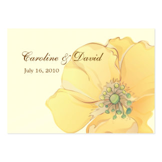 Watercolor Florals Favor Tag Business Card Template