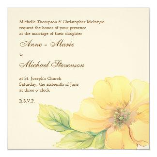 Watercolor Florals Wedding Invitation Card