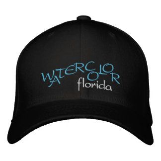 WATERCOLOR Florida Embroidered Hat