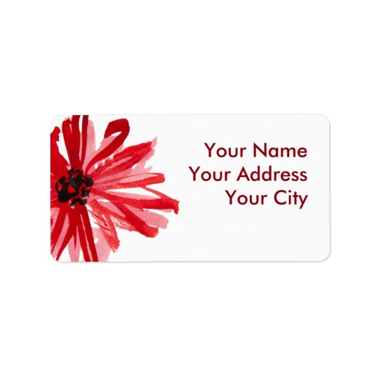 Watercolor flower label