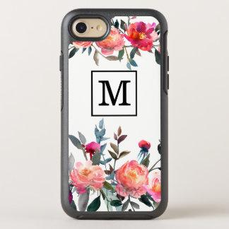 Watercolor Flower Monogram Case