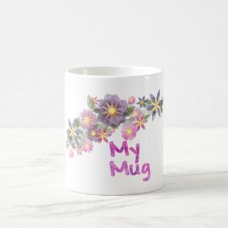 Watercolor Flower Basic White Mug