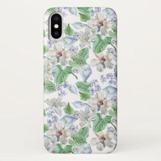 Watercolor Flower Pattern iPhone X Case