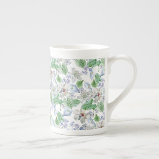 Watercolor Flower Pattern Tea Cup