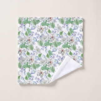 Watercolor Flower Pattern Wash Cloth