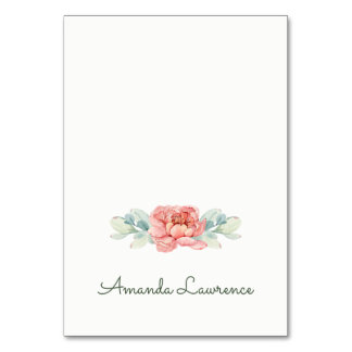 Watercolor Flower Place Cards