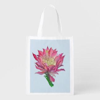 Watercolor Flower Reusable Grocery Bag