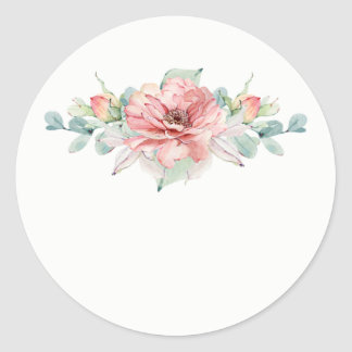 Watercolor Flower Wedding Favour Stickers