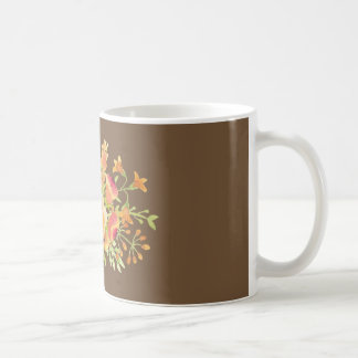 watercolor flower White 11 oz Classic Mug