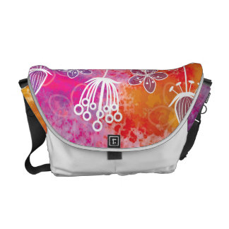 Watercolor Flowers 2 Messenger Bag