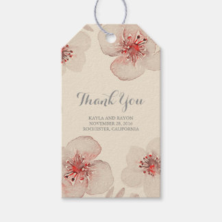 Watercolor Flowers Botanical Vintage Wedding Gift Tags