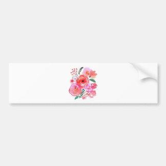Watercolor Flowers Bumper Sticker