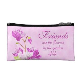 Watercolor Flowers Cosmetic Bag