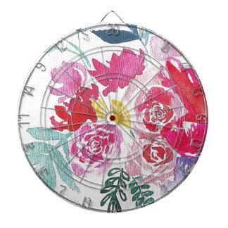 Watercolor Flowers Dartboard