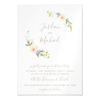 Watercolor Flowers & Elegant Script Wedding Invite