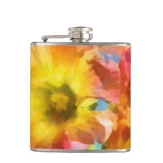 Watercolorflowers Flask