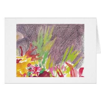 Watercolor flowers ii card
