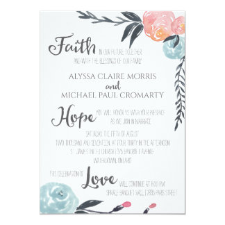 Watercolor Flowers Invitations