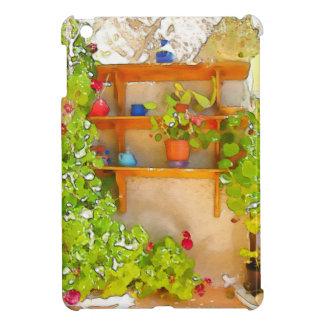 Watercolor flowers iPad mini cover