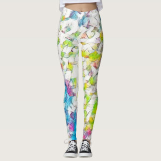 Watercolor Flowers Love Leggings