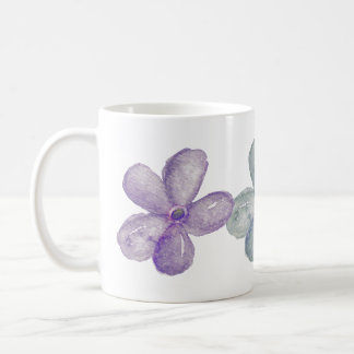 Watercolor Flowers Classic White Coffee Mug