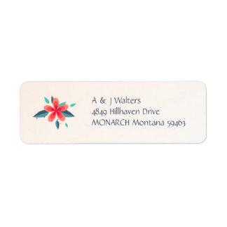 Watercolor Flowers Noel Address Label