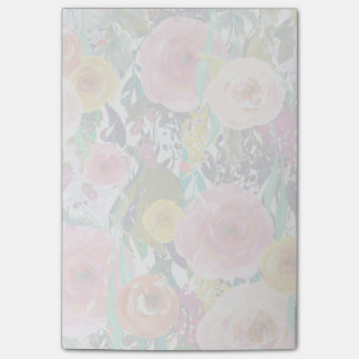 Watercolor Flowers or Personalized Photo Post-it Notes