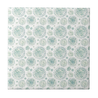 Watercolor flowers pattern small square tile