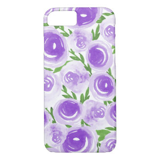 Watercolor Flowers Purple Blooms Pretty Flowers iPhone 8/7 Case