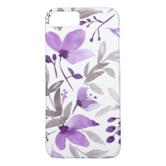 Watercolor Flowers - Rustic Floral Purple iPhone 8/7 Case