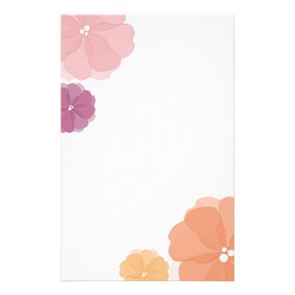 Watercolor Flowers stationery