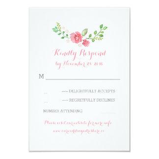 watercolor flowers wedding RSVP cards 9 Cm X 13 Cm Invitation Card