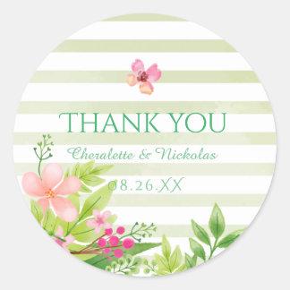 Watercolor Flowers | Wedding Sticker